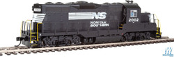 Walthers Mainline HO 910-20410 EMD GP9 Phase II with Chopped Nose Locomotive with ESU Sound & DCC Norfolk Southern NS #2002