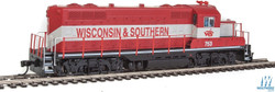 Walthers Mainline HO 910-20412 EMD GP9 Phase II with Chopped Nose Locomotive with ESU Sound & DCC Wisconsin & Southern WSOR #753
