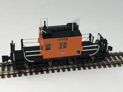 Fox Valley Models N 91161 Milwaukee Road Transfer Caboose Orange w/Black Lettering & Logo #01752