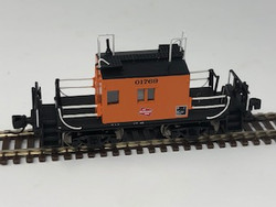 Fox Valley Models N 91162 Milwaukee Road Transfer Caboose Orange w/Black Lettering & Logo #01769