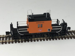 Fox Valley Models N 91164 Milwaukee Road Transfer Caboose w/Plated Side Windows Orange w/Black Lettering & Logo #990035
