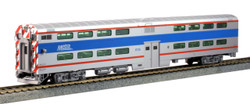 Kato HO 35-6027 Pullman Bi-Level 4 Window Cab-Coach Chicago METRA #8730