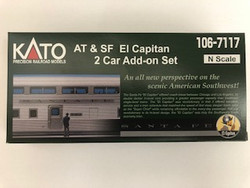 Kato N 106-7117 AT&SF Santa Fe El Capitan 2 Car Add-on Set