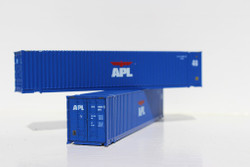 Jacksonville Terminal Company N 485001 48' High Cube 3-42-3 Corrugated Container American President Lines - APL medium logo 2-Pack