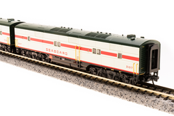 Broadway Limited Imports N 3605 EMD E7 AB Set Seaboard Air Line SAL #3025/#3107 Mint Green with Red Stripe Scheme A unit equipped with Paragon3 Sound/DC/DCC Unpowered B unit
