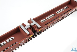 Walthers Mainline HO 910-55604 Thrall 5 Unit Rebuilt 40' Well Car BNSF Railway BNSF #238129