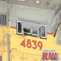 BLMA N 74 Detail Parts Angled Cab Sunshades 4 pairs