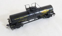 Tangent Scale Models HO 22061-02 General American 1952 Design 8,000 Gallon Welded Tank Car DOW Chemicals Pittsburg CA 1964+ GATX #25852