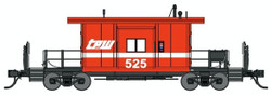 Bluford Shops HO 31240 Transfer Caboose Toledo Peoria & Western TPW #525