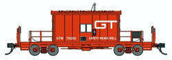 Bluford Shops HO 34410 Transfer Caboose Grand Trunk Western GTW #75056