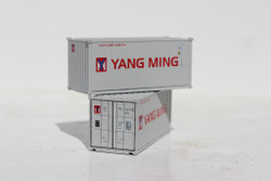 Jacksonville Terminal Company N 205339 20' Standard Height Container YANG MING 2-Pack