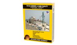 Woodland Scenics TS152 HO Trackside Scenes - Caboose & Sand Facility - Kit