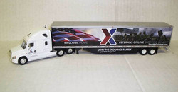 Trucks N Stuff HO TNS209D Freightliner Cascadia Sleeper Cab with 53' Trailer Join The Exchange Family Welcome Home/Flag/Soldiers