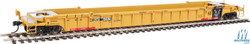 Walthers Mainline HO 910-55077 53' 3-Unit NSC Stand-Alone Well Car Set TTX - DTTX #787041