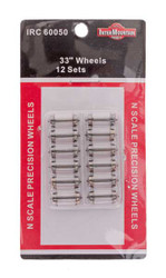 Intermountain N 60050 33 Inch Brass Insulated Wheelsets - 12 Pack