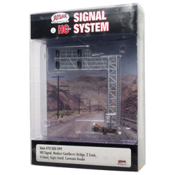 Atlas HO 70000099 Railroad Signal System - Modern Cantilever Bridge 2 Track - 4 Head Right