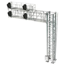 Atlas HO 70000099 Railroad Signal System - Modern Cantilever Bridge 2 Track - 4 Head Right