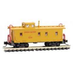 Micro Trains 050 00 101 34' Wood Sheathed Caboose w/ Slanted Cupola Caboose Union Pacific UP #3244