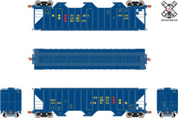 ScaleTrains HO 10705 Operator Pullman-Standard PS-2CD 4785cf Covered Hopper Golden West Service KCS #521001