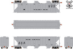 ScaleTrains HO 10709 Operator Pullman-Standard PS-2CD 4785cf Covered Hopper Penn Central Gray Scheme PCB #889878