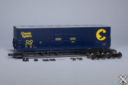 ScaleTrains HO 1007 Kit Classics Evans 5100 RBL 8' Double Plug Door Boxcar Chessie System - C&O #479573