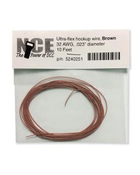 NCE DCC 5240251 10' of 32 Gauge Wire, Brown