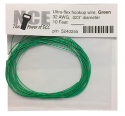 NCE DCC 5240255 10' of 32 Gauge Wire, Green