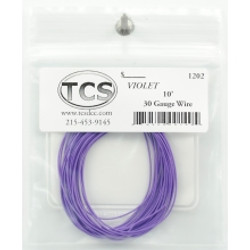 Train Control Systems TCS 1202 10' of 30 Gauge Wire - Violet