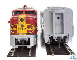 Walthers Mainline HO 910-20079 Alco PA-PB Locomotive Set with ESU DCC & Sound Santa Fe Warbonnet Scheme ATSF #53L & #53A