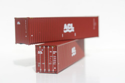 Jacksonville Terminal Company N 405018 40' High Cube  Container ACL Atlantic Container Line 2-Pack