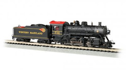 Bachmann N 51355 Baldwin 2-8-0 Consolidation Steam Locomotive with DCC & Sound Western Maryland #751