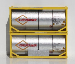 Jacksonville Terminal Company N 205247 20' Standard Tank Container Eurotainer with Half Length Three Quarter Walkway with Mechanical Unit 2-Pack