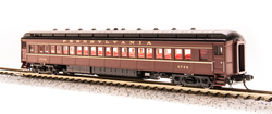 Broadway Limited Imports N 3760 P70R Passenger Car Heavyweight Coach with Ice AC Pennsylvania Railroad Tuscan Red with Gold Lettering and Stripes PRR # 3433, 3519, 3587, 3706 - 4 Car Set
