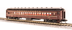Broadway Limited Imports N 3766 P70 Passenger Car Heavyweight Coach without AC Pennsylvania Railroad Tuscan Red with Gold Lettering and Stripes PRR # 832, 940, 1053, 1278 - 4 Car Set