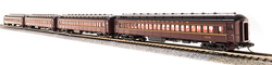 Broadway Limited Imports N 3767 P70 Passenger Car Heavyweight Coach without AC Pennsylvania Railroad Tuscan Red with Buff Lettering and Stripes PRR # 851, 944, 1069, 1318 - 4 Car Set