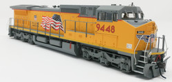 Atlas HO Silver 20001461 Golden Spike Club DASH 8-41C DCC Ready Union Pacific Yellow Sill - Building America with Flag Scheme UP #9448