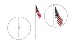 Woodland Scenics HO/N JP5952 Just Plug Lighting System - US Flag Large - Pole - Spotlight