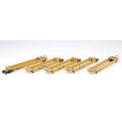 Athearn HO ATH95040 RTR MAXI I Well 5 Car Set - Early - TTX - DTTX #73025