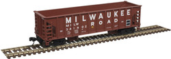 Atlas Master N 50004848 41' Ballast Car Milwaukee Road MILW #341439