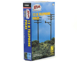 Atlas N 2801 Telephone Poles - 12 pack