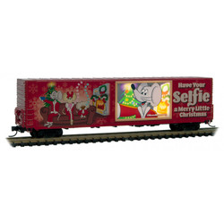 Micro Trains Line 10200820 60' Excess High Box Car Christmas 2019 Micro-Mouse lighted