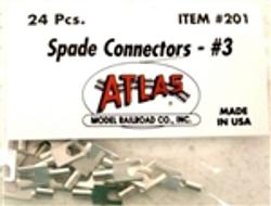 Atlas N/HO #201 Spade Connector #3 24 - Pack