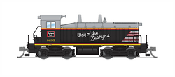 Broadway Limited Imports N 3879 EMD SW7 Chicago Burlington & Quincy CB&Q # 9255 Way of the Zephyrs Scheme equipped with Paragon3 Sound/DC/DCC