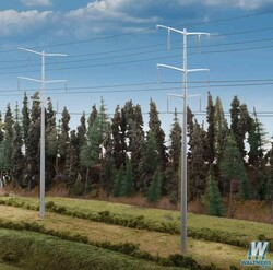 Walthers Cornerstone HO 9333343 Modern High Voltage Transmission Towers - Kit