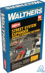 Walthers Cornerstone HO 933-3195 Asphalt Street System Expander - Straight Sections & Accessories - Kit