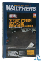 Walthers Cornerstone HO 933-3156 Brick Street System Expander - Straight Sections & Accessories - Kit