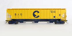 Tangent Scale Models HO 20027-12 Pullman-Standard PS-2CD 4750 Covered Hopper B&O Chessie System Original 7-73 B&O #603798