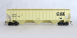 Tangent Scale Models HO 20029-02 Pullman-Standard PS-2CD 4750 Covered Hopper CSX 'Early Beige Repaint' 1989+ CSXT #254179