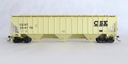 Tangent Scale Models HO 20029-03 Pullman-Standard PS-2CD 4750 Covered Hopper CSX 'Early Beige Repaint' 1989+ CSXT #254196