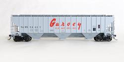 Tangent Scale Models HO 20041-01 Pullman-Standard PS-2CD 4750 Covered Hopper NAHX 'Garvey Grain 12-1973' NAHX #54411
